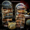"""<center><h2>'Books Under Glass'</h2> Round Top, Texas -Antique Faire-  An Open Edition Matted 16""""x 20""""  Luster  paper (12mil)  ©2014 R. Gallet  </center>"""