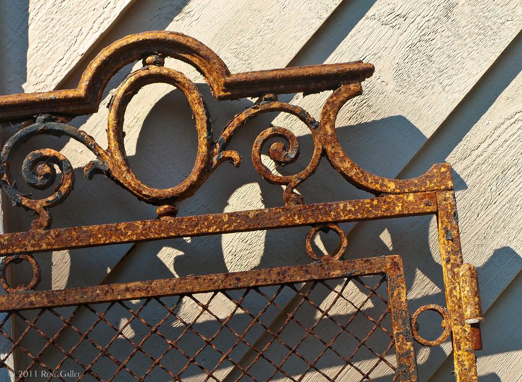 "<center><h2>' Antique French Gate '</h2> Fairhope, AL  12""x16"", Luster paper (12 mil) Open edition </center>"