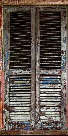 <center><h2>' French Quarter Color - 31 '</h2> 'Worn Shutters'  New Orleans, LA</center>