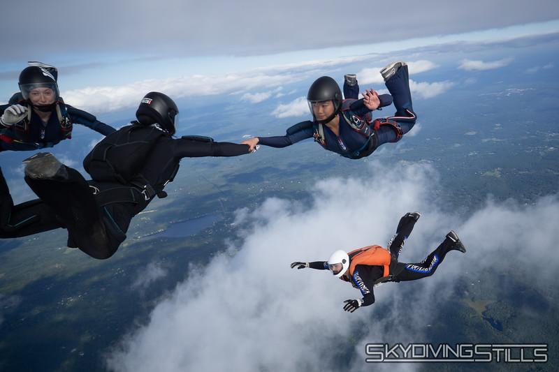What are the chances that 3 people would go high at the same time? Get down there!