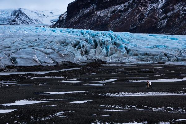 At the foot of Vatnajökull Glacier