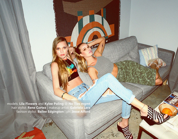 Lila Flowers and Kylee Poling at No Ties Model Management