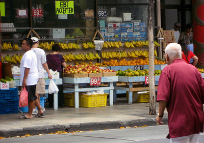 Colorful Fruit Stands in ChinaTown, Honolulu, Hawaii