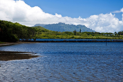 He'eia Fishpond with the Ko'olau Mountains  This ancient Hawaiian fishpond is located in He'eia, Ko'olaupoko, O'ahu 080722 Read more http://ksdl.ksbe.edu/heeia/pages/history.html