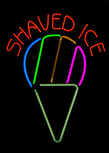 Neon Shaved Ice Cone  Honolulu, Hawaii