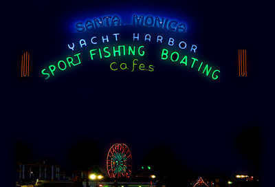 Neon Sign at the Santa Monica Harbor  Santa Monica, California
