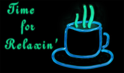 Time for Relaxin' with a cup of Hot Chocolate? Coffee? Tea?\  in Neon  Honolulu, Hawaii