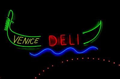 Neon Venice Deli  Venice Beach, California