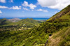 Nuʻuanu Pali overlook, looking north from the overlook at Kāneʻohe town and Kāneʻohe Bay beyond<br><br>Koolau Mountain Range   Windward, O'ahu, Hawai'i