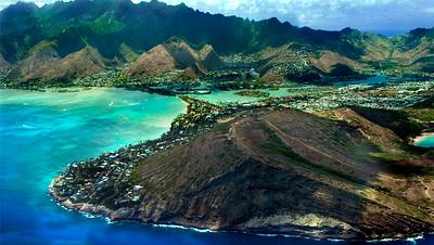 Ko'olau Mountain Range ~ Koko Head  Aerial View