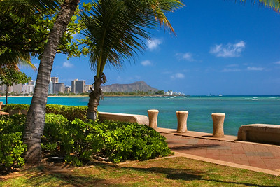 Diamond Head from Kewalo Basin Park - by the Ala Wai Boat Harbor  Waikiki, Hawai'i