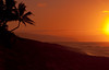 Sunset from Sunset Beach toward Rocky Point<br /> Ka'ena Point in distance<br /> July