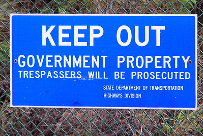 Keep Out Government Property Warning  sign Oahu, Hawaii