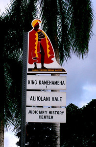 Historic marker sign   seen throughout the islands Oahu, Hawaii