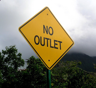 No Outlet signNorth Shore, Oahu, Hawaii