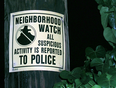 Neighborhood Watch sign North Shore, Oahu, Hawaii