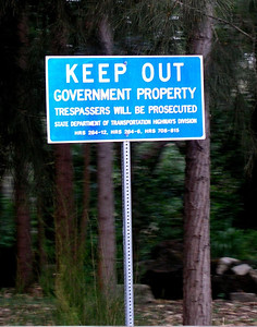 Keep Out, Government Property Warning   sign  Oahu, Hawaii