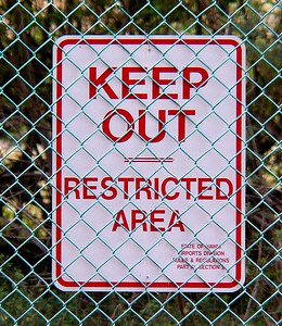 Keep Out, Restricted Area another Government Property Warning  sign Oahu, Hawaii