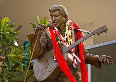 statue of Elvis, Blaisdell, Honolulu