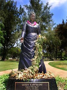 Queen Kapiolani Location: Kapiolani Park Waikiki, Hawai'i