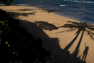 Me n my Shadow at the Beach North Shore Oahu, Hawaii