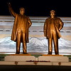 Statues of Kim Il-sung and Kim Jong-Il in Pyongyang