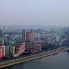 Pyongyang - view from top of the Yanggakdo Hotel