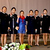 Teenager performance in a middle school at Pyongyang
