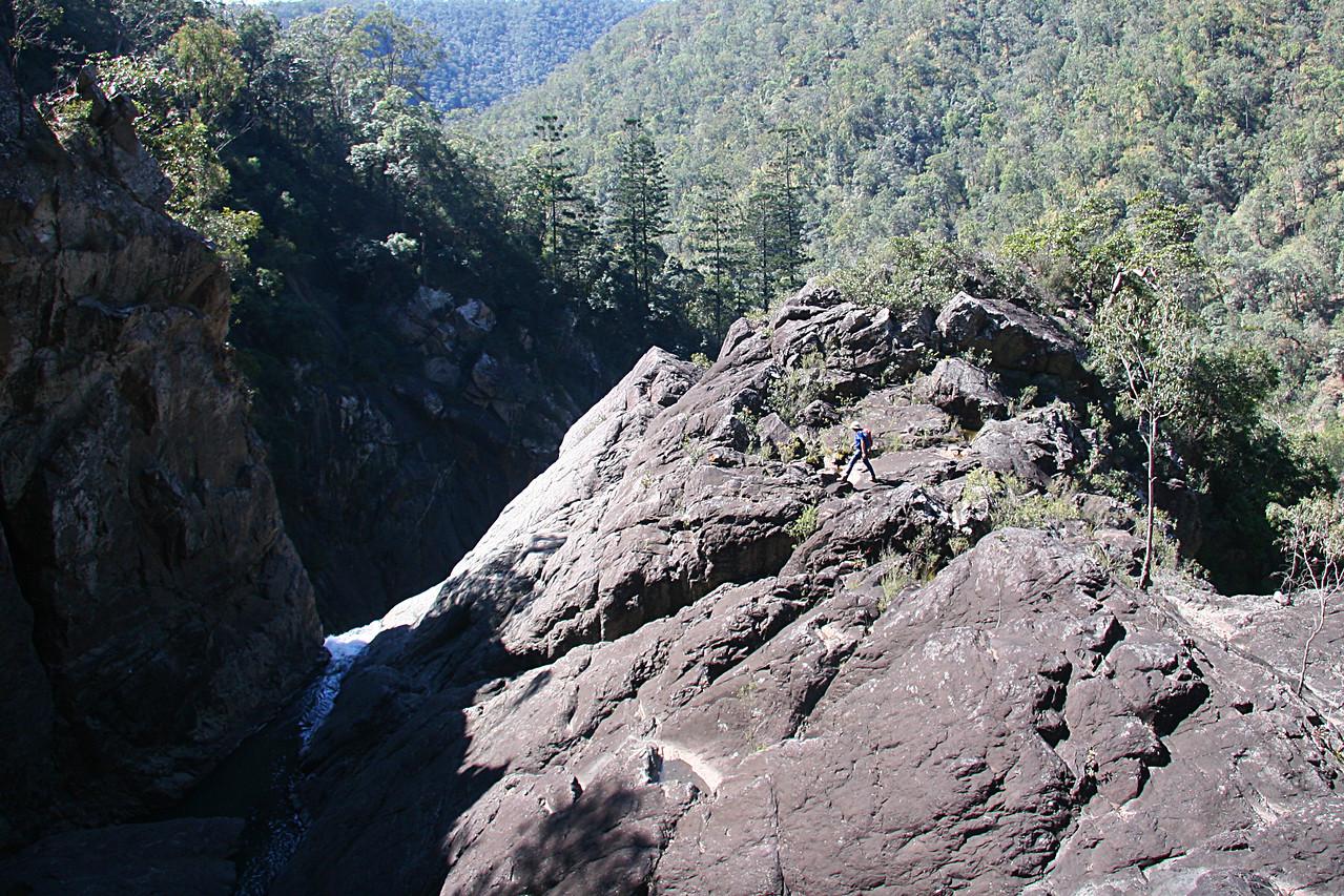 Exploring Yabba Falls, Baiyambora Gorge Wilderness
