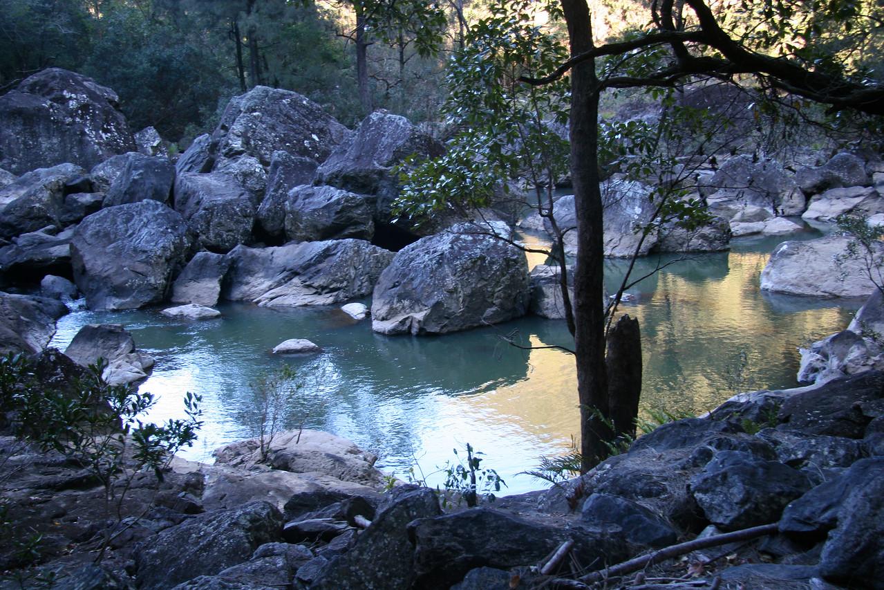 Corner Pool, Yabba Falls: where the turbulence encounters serenity