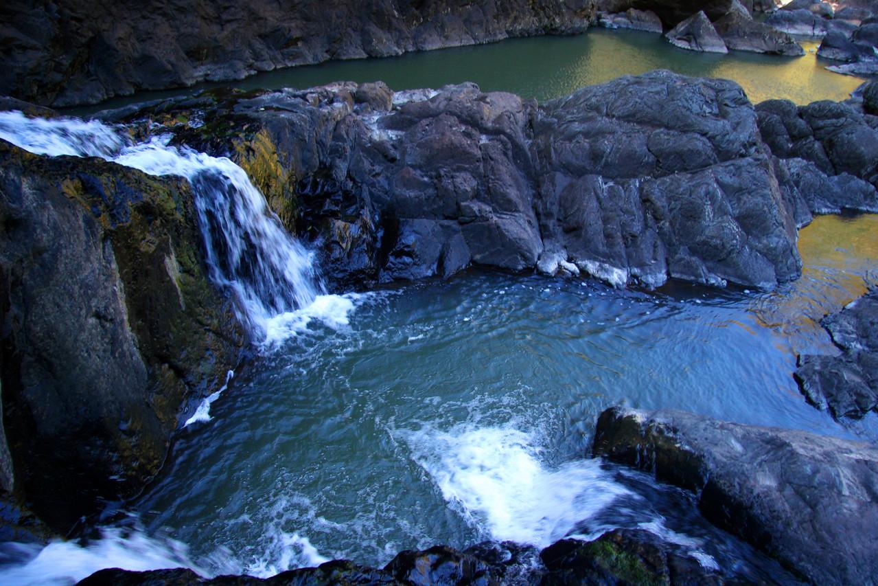 Owen Cascades spilling into Corner Pools, Yabba Falls