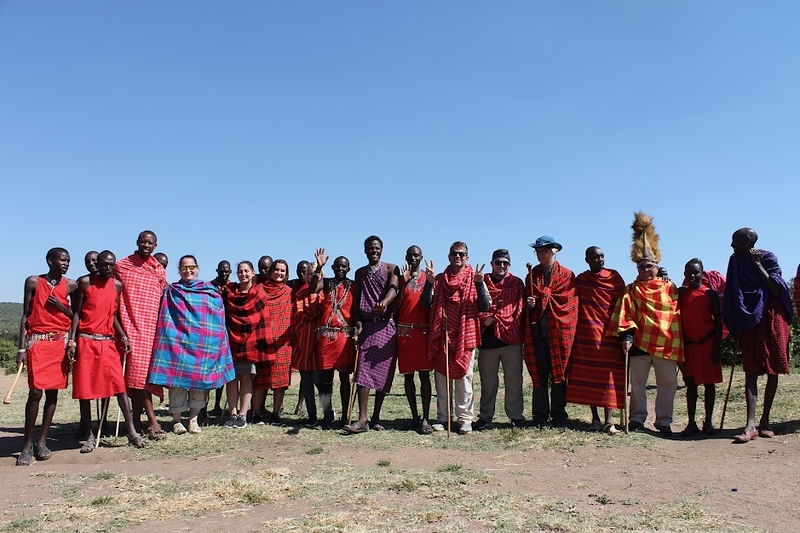 . During a family trip to Kenya, the Scopa Family stopped at a Maasai village to donate money and get a tour of the area. COURTESY PHOTO