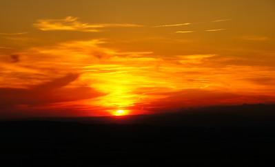 Sunset Gigondas, France