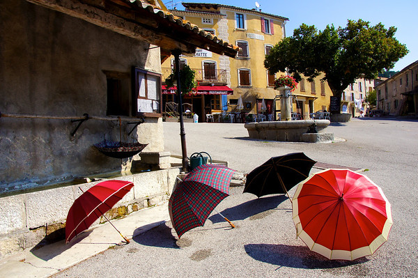 Umbrellas drying in the sun!