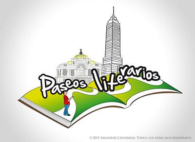 Logotipo para el ciclo literario Paseos Literarios / CDMX, México
