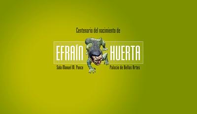 Identidad gráfica para celebración del poeta Efraín Huerta / CDMX, México
