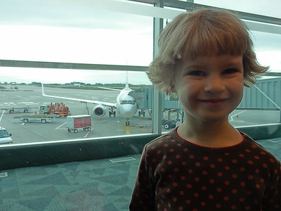 At pearson airport waiting for flight