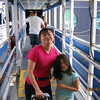 JoMay and Heather on the gangway to the Disney Wonder