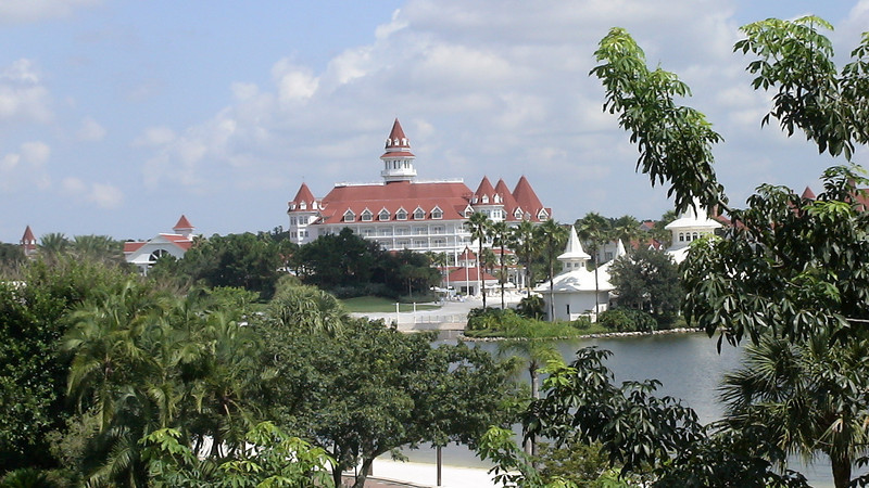 View of theGrand Floridian from our room at the Polynesian