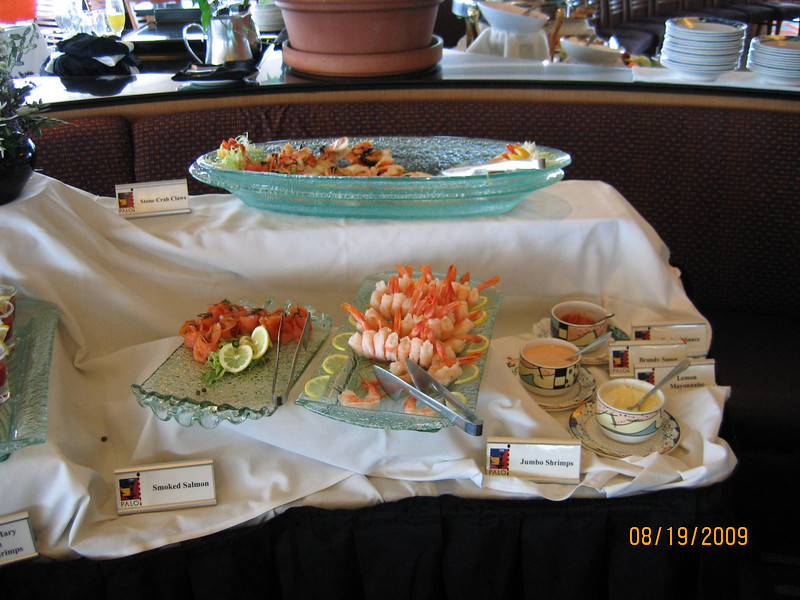 Appetizer buffet at Palo