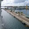 Pulling into Nassau, Bahamas