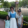 Posing with Belle at Epcot