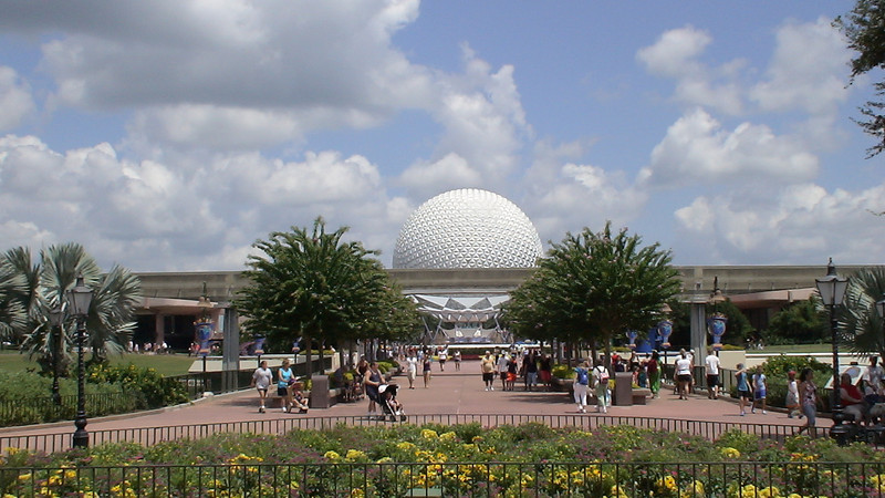 Spaceship Earth seen from World Showcase