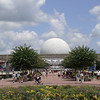 Spaceship Earth seen from World Showcase