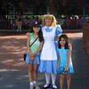 Evelyn and Heather with Alice in Wonderland
