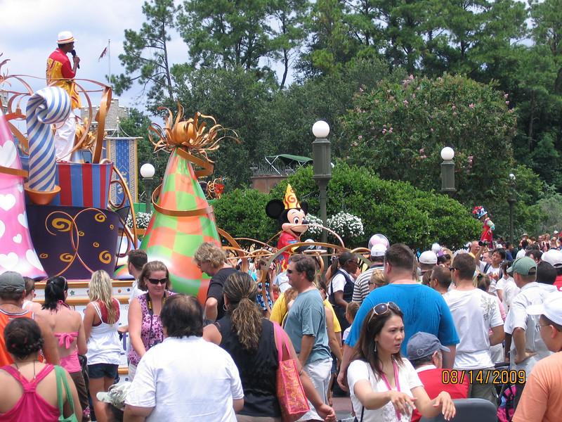 Mickey celebration at Cinderella Castle