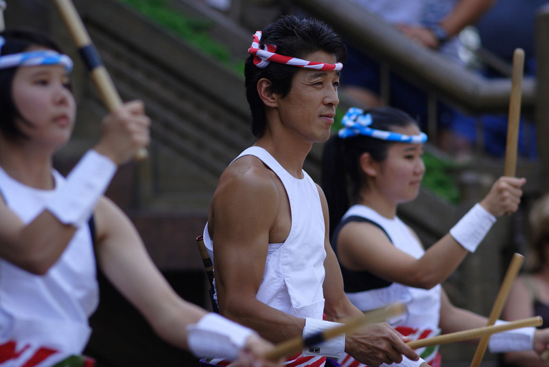 Japanese Taiko Drummers perform at Epcot
