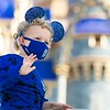 Wishes Come True Blue - Adjustable Headband for Children, Cloth Face Mask By Spirit Jersey and Spirit Jersey for Youth
