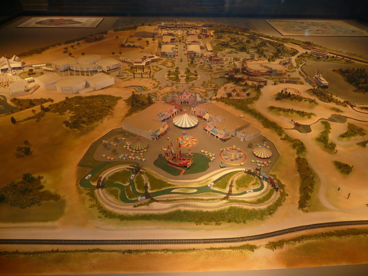 A model of Disneyland in 1955.