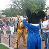 Mickey and Pluto out for autographs.